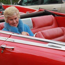 Waltraut Haas feierte 90. Geburtstag: Im Cabriolet zum rauschenden Fest